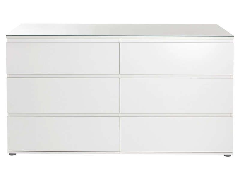 commode blanche 6 tiroirs