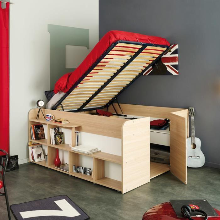 lit avec rangement dessous